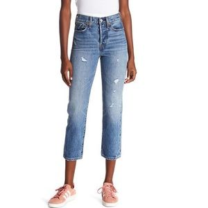Levi's Wedgie Straight Distressed Jeans